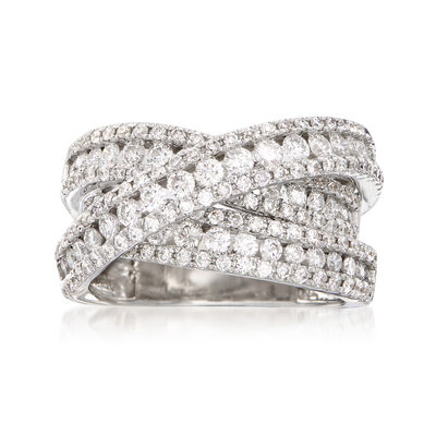 2.50 ct. t.w. Diamond Crisscross Ring in 14kt White Gold, , default