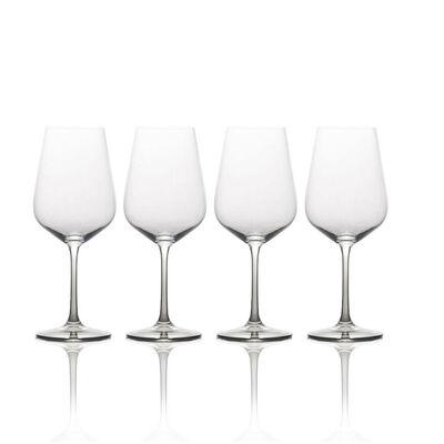 "Mikasa ""Gianna"" Set of 4 Ombre Smoke Red Wine Glasses"