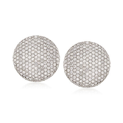 8.90 ct. t.w. Diamond Circle Earrings in 18kt White Gold