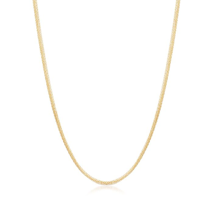 Italian 18kt Yellow Gold Six-Strand Rope Chain Necklace, , default