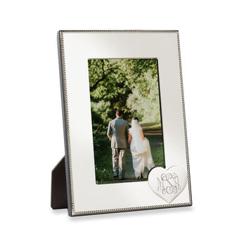 Reed & Barton Personalized Heart Picture Frame from Italy