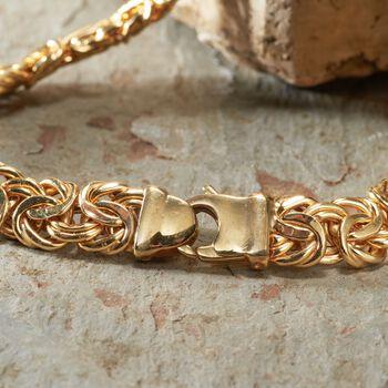 14kt Yellow Gold Byzantine Bracelet