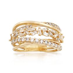 .88 ct. t.w. Diamond Highway Ring in 14kt Yellow Gold, , default