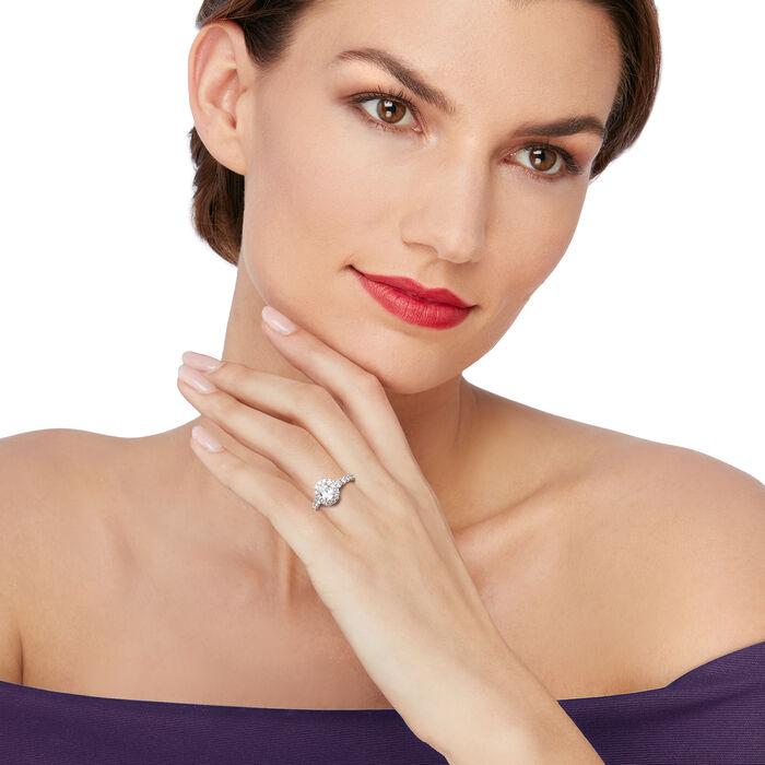 Henri Daussi 1.75 ct. t.w. Diamond Halo Engagement Ring in Platinum