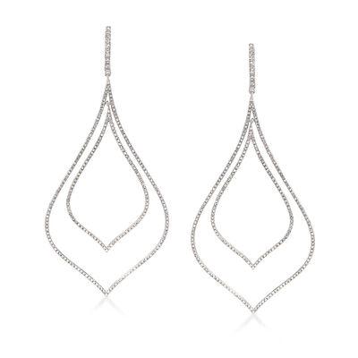 2.50 ct. t.w. Diamond Double Open Teardrop Earrings in Sterling Silver, , default