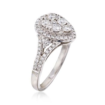 C. 2000 Vintage .85 ct. t.w. Diamond Cluster Ring in 18kt White Gold. Size 6.5, , default