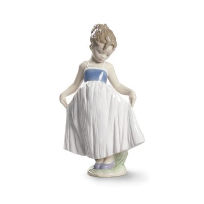 "Lladro ""Look at My Dress"" Porcelain Figurine, , default"