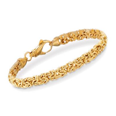 18kt Gold Over Sterling Silver Small Byzantine Bracelet
