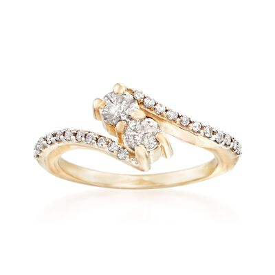 .75 ct. t.w. Diamond Two-Stone Ring in 14kt Yellow Gold, , default