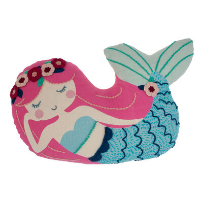 Child's Mermaid Embroidered Pillow by Stephen Joseph