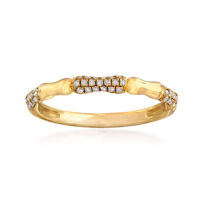 .15 ct. t.w. Pave Diamond Ring in 14kt Yellow Gold