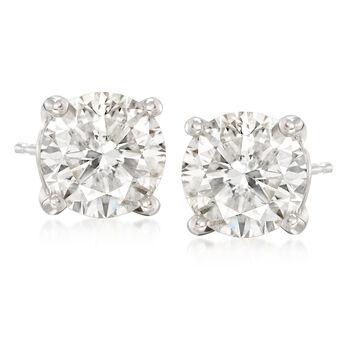 4.16 ct. t.w. Diamond Stud Earrings in 14kt White Gold, , default