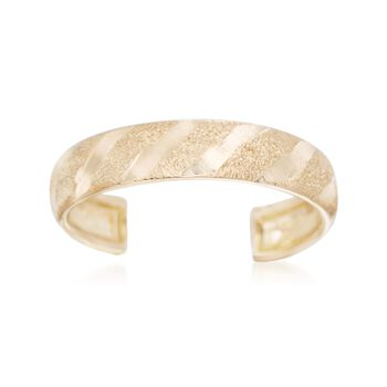 14kt Yellow Gold Textured Adjustable Toe Ring, , default