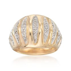 .20 ct. t.w. Diamond Geometric Dome Ring in 14kt Yellow Gold. Size 5, , default