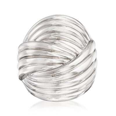 Sterling Silver Curved Multi-Row Ring