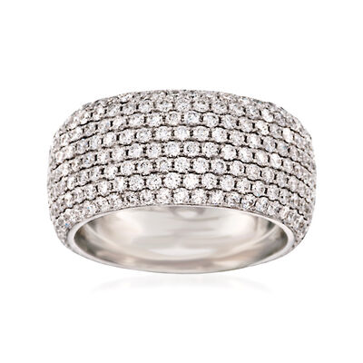 "Kwiat ""Moonlight"" 2.85 ct. t.w. Diamond Eternity Band in 18kt White Gold, , default"
