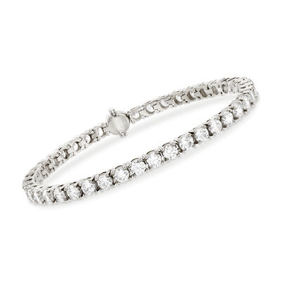 9.00 ct. t.w. CZ Tennis Bracelet in Sterling Silver, , default