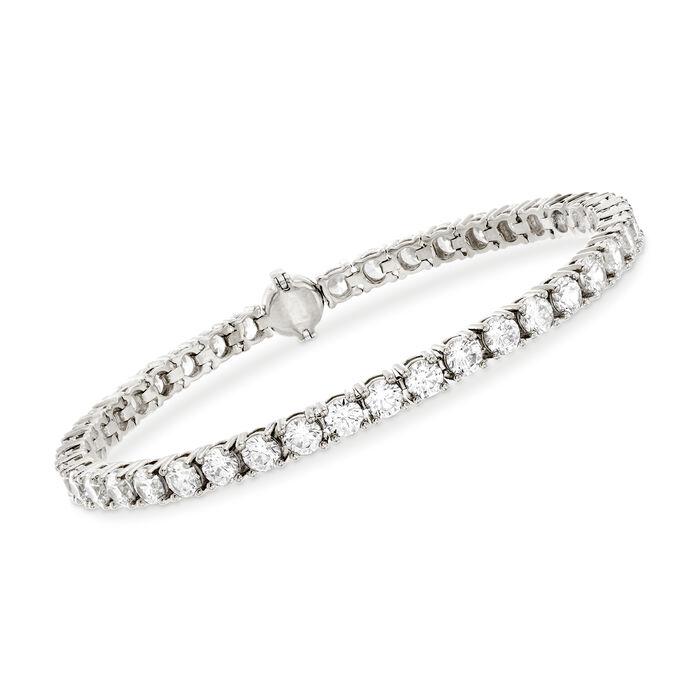 9.00 ct. t.w. CZ Tennis Bracelet in Sterling Silver, , default
