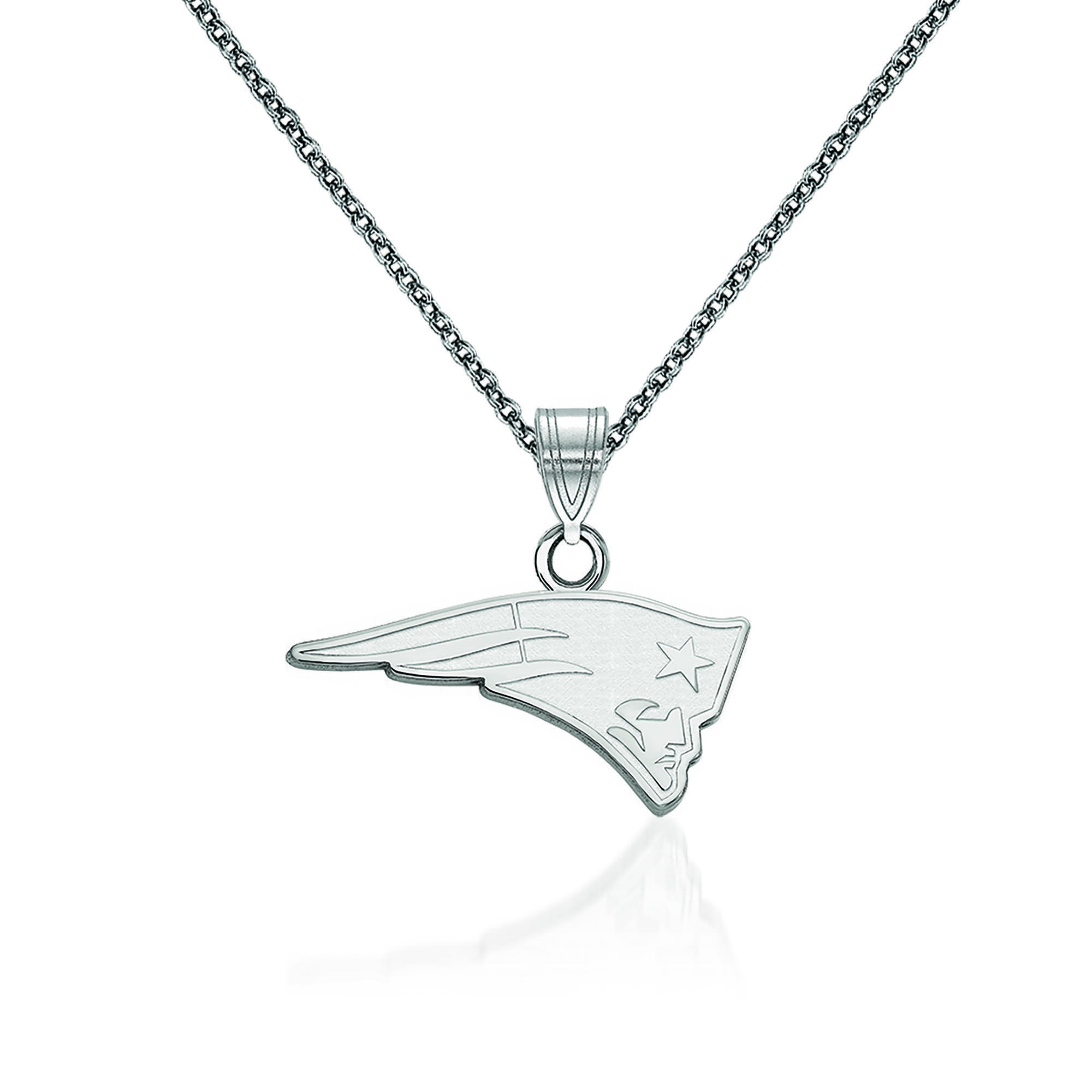 Sterling Silver Rhodium Plated Cleveland Browns Small Pendant w//Necklace 18 in Length Sterling Silver