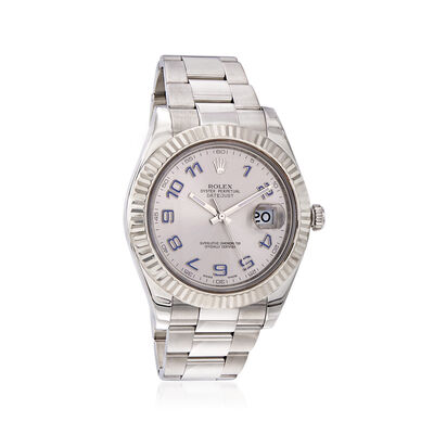 Pre-Owned Rolex Datejust II Men's 41mm Automatic Watch in Stainless Steel and 18kt White Gold, , default
