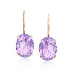 2.20 ct. t.w. Amethyst Drop Earrings in 14kt Yellow Gold, , default