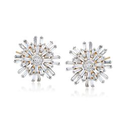 .43 ct. t.w. Diamond Starburst Earrings in 14kt Yellow Gold , , default