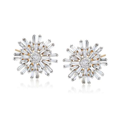 .43 ct. t.w. Diamond Starburst Earrings in 14kt Yellow Gold, , default