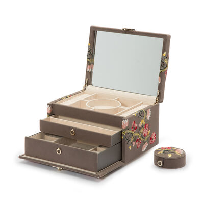 "Wolf ""Zoe"" Mink Velvet Medium Jewelry Box, , default"