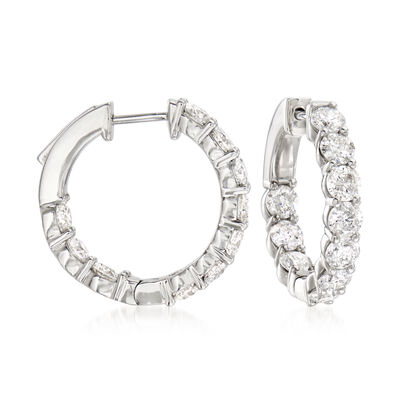 4.00 ct. t.w. Diamond Inside-Outside Hoop Earrings in Platinum, , default