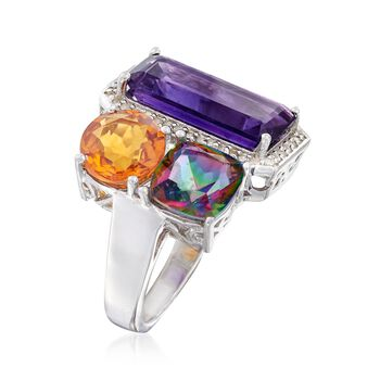 8.80 ct. t.w. Multi-Stone Ring in Sterling Silver, , default