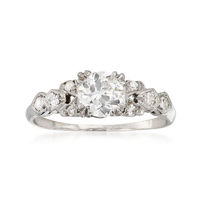 C. 1950 Vintage .68 ct. t.w. Diamond Ring in Platinum