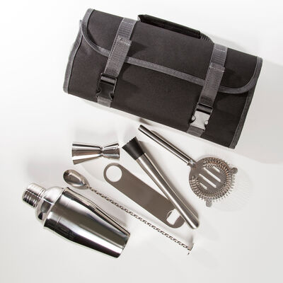 Brouk & Co. Stainless Steel Traveling Bartender Set