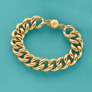 Andiamo 14kt Yellow Gold Link Bracelet, , default