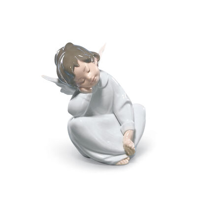 "Lladro ""Angel Dreaming"" Porcelain Figurine"