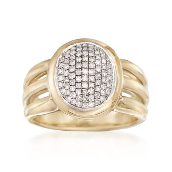.38 ct. t.w. Pave Diamond Ring in 14kt Yellow Gold. Size 5, , default