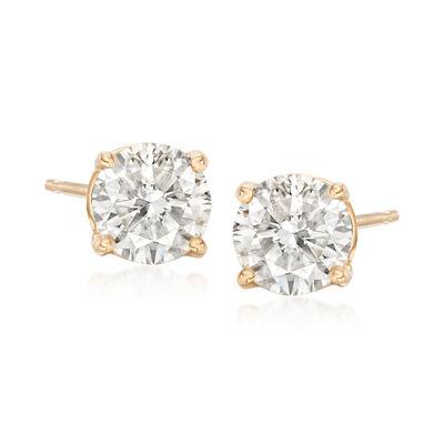 1.50 ct. t.w. Diamond Stud Earrings in 18kt Yellow Gold, , default