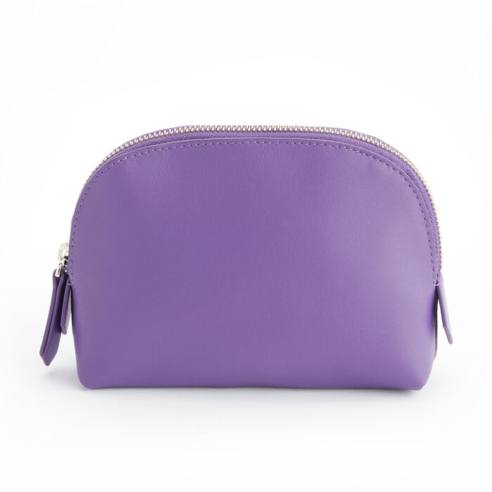 Royce Purple Leather Cosmetic Case