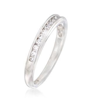 Gabriel Designs .27 ct. t.w. Channel-Set Diamond Wedding Ring in 14kt White Gold, , default