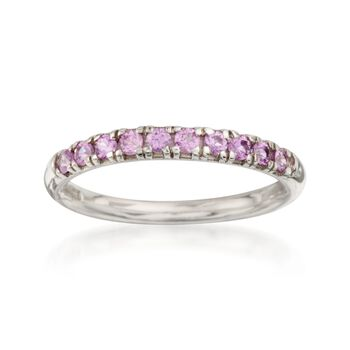 .50 ct. t.w. Pink Sapphire Band Ring in Sterling Silver, , default