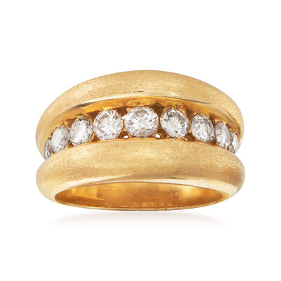 C. 1980 Vintage 1.00 ct. t.w. Diamond Center Ring in 14kt Yellow Gold, , default