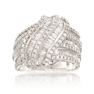 2.00 ct. t.w. Diamond Sash Ring in 14kt White Gold, , default