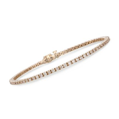 2.00 ct. t.w. Round Diamond Tennis Bracelet in 14kt Yellow Gold, , default