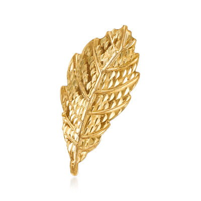 14kt Yellow Gold Leaf Pin, , default