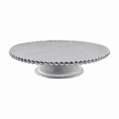 "Mariposa ""String of Pearls"" Pearled Cake Stand, , default"