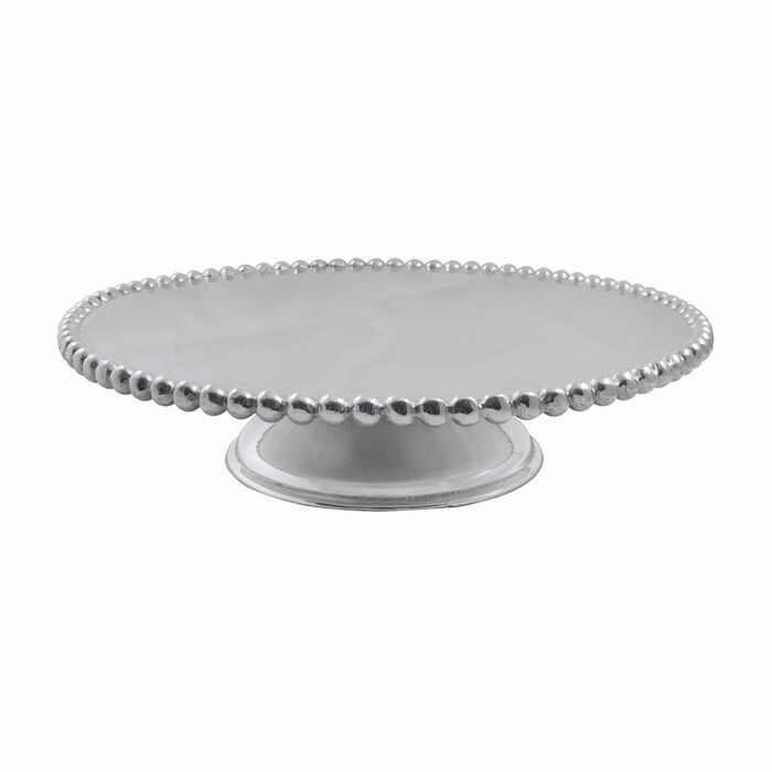 """Mariposa """"String of Pearls"""" Pearled Cake Stand, , default"""
