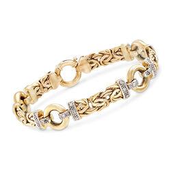 .24 ct. t.w. Diamond Byzantine Bracelet in 14kt Yellow Gold, , default