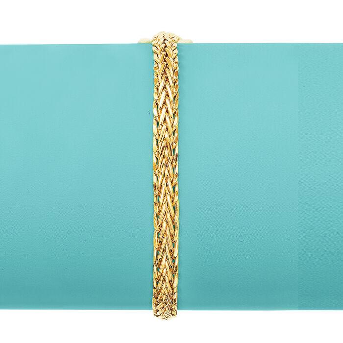18kt Yellow Gold Wheat-Link Bracelet