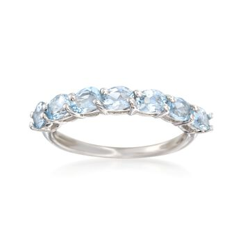 .90 ct. t.w. Aquamarine Ring in Sterling Silver, , default