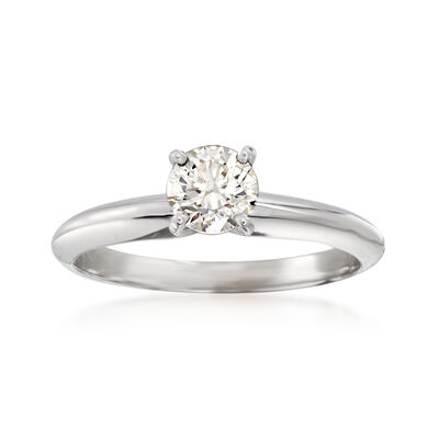 .53 Carat Certified Diamond Solitaire Ring in 14kt White Gold