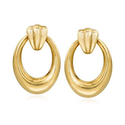 Andiamo 14kt Yellow Gold Doorknocker Earrings, , default